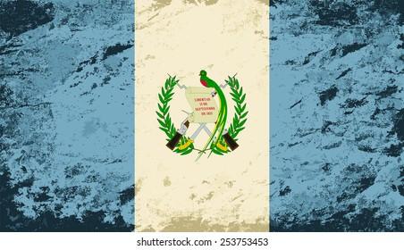 Guatemalan flag Grunge background. Vector illustration Eps 8.