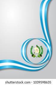Guatemalan flag wavy abstract background. Vector illustration.