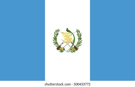 Guatemalan national official flag. Patriotic symbol, banner, element, background. Accurate dimensions. Flag of Guatemala in correct size and colors, vector illustration