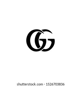 Gucci brand new logo, icon, symbol design isolated on white background. Double G
