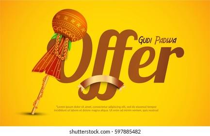 Gudi Padwa Offer Poster Or Banner Background.