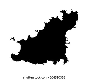 Guernsey vector map silhouette isolated on white background silhouette. High detailed illustration.
