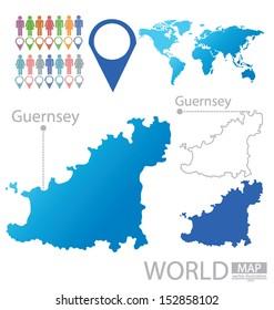 Guernsey. World Map. vector Illustration.