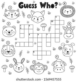 guess who black white crossword 260nw