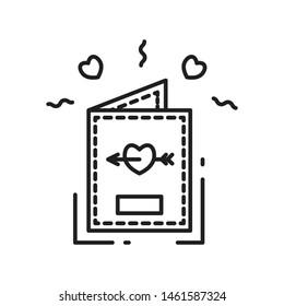 Guestbook party line icon logo design
