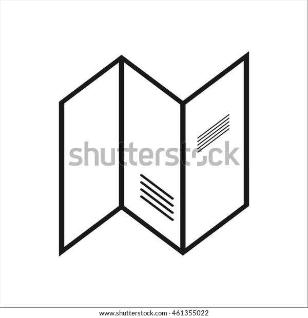 Guide booklet travel tourism map symbol sign simple icon on background