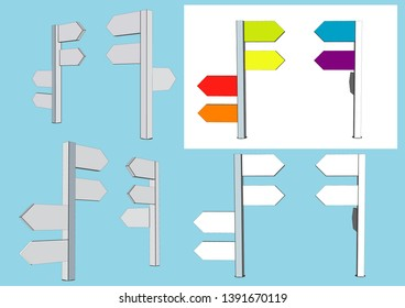 Guide Post, Street sign Vector