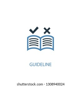 guideline concept 2 colored icon. Simple blue element illustration. guideline concept symbol design. Can be used for web and mobile UI/UX