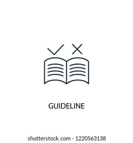 guideline concept line icon. Simple element illustration. guideline concept outline symbol design. Can be used for web and mobile UI/UX