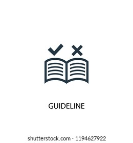 guideline icon. Simple element illustration. guideline concept symbol design. Can be used for web and mobile.