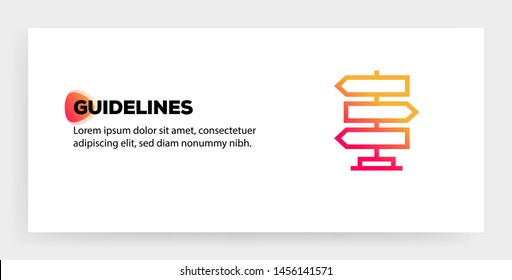 GUIDELINES AND ILLUSTRATION ICON CONCEPT