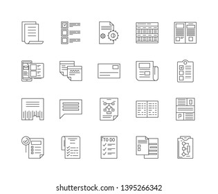 Guidelines line icons, signs, vector set, outline illustration concept