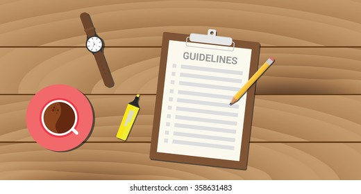 guidelines policy guidance business management clipboard work