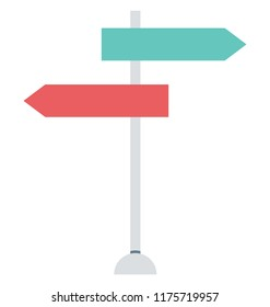 Guidepost, Signpost Isolated Vector Icons can be modify with any Style
