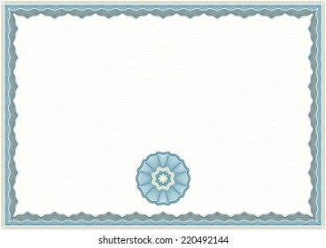 Guilloche Background for Certificate or Diploma (background, frame and rosette)