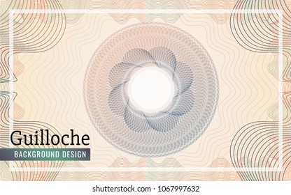Guilloche Background Design for certificate, bank note, voucher.