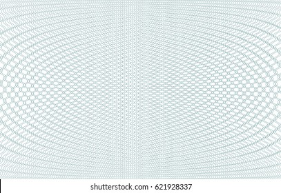 Guilloche background texture - green zig zag. For certificate, voucher, banknote, voucher, money design, currency Vector illustration