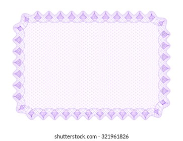 Guilloche Background -  vector illustration