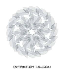 Guilloche Pattern Rosette for certificate,   diploma, voucher, currency,play money or other security papers.
