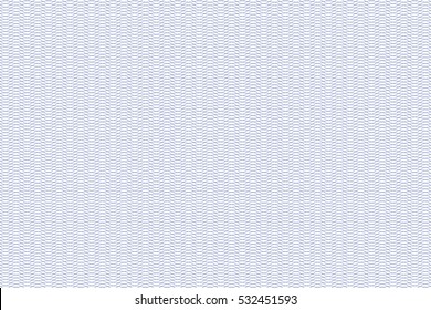 Guilloche seamless background. Monochrome guilloche texture with waves. Digital watermark for Security Papers, certificate, voucher, banknote, money design, currency, note, check, ticket, reward etc