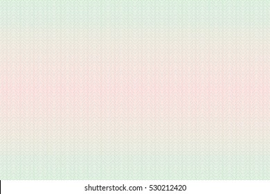 Guilloche seamless background. Guilloche texture with waves in green and red color. Digital watermark for Security Papers, certificate, voucher, banknote, money design, currency, note, check, ticket.