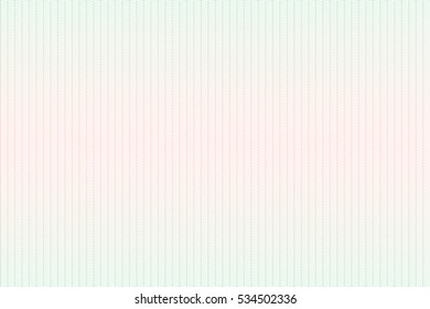 Guilloche seamless background. Guilloche texture with waves in green and red color. Digital watermark for Security Papers, certificate, voucher, banknote, money design, currency, note, check etc