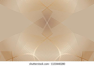 Guilloche vector background. Intersection of thin wavy lines for backdrop, flyer, coupon, voucher, ticket, card design