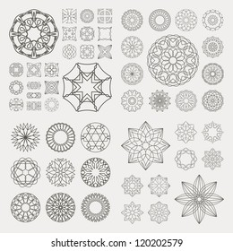 Guilloche vector elements. GREAT COLLECTION.