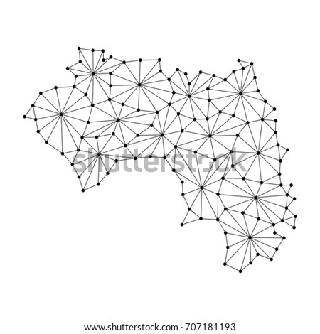 Guinea Map Polygonal Mosaic Lines Network Stock Vector Royalty Free