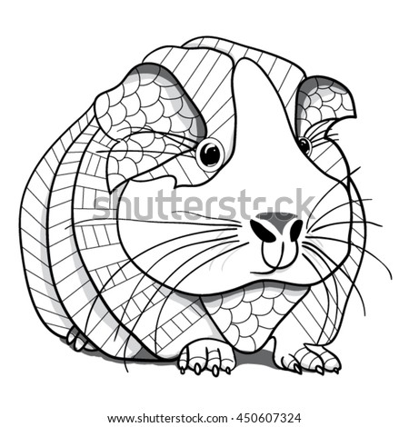 Guinea pig coloring page stock vector royalty free for Free guinea pig coloring pages