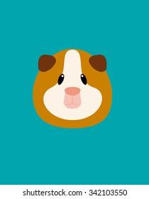 Guinea Pig Face Vector