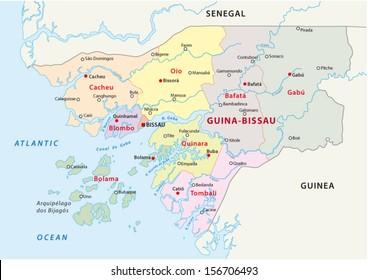 guinea-bissau administrative map