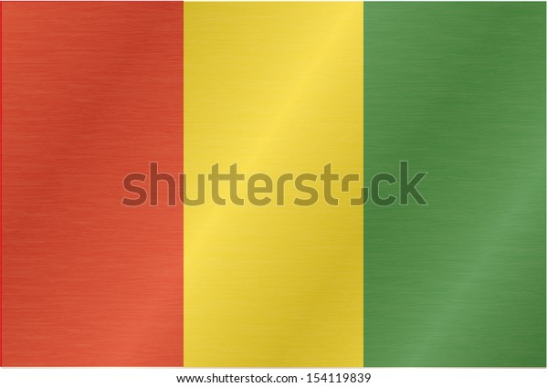 Guinean flag blowing in the wind. Part of a series.