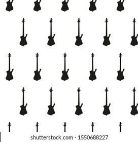 guitar background Seamless. music background vector black