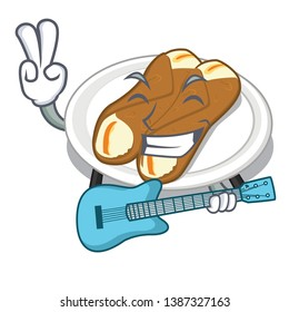 With guitar cannoli isolated with in the character