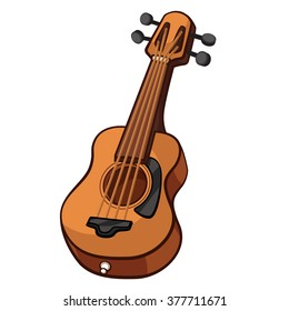 Guitar cartoon style, vector art and illustration.