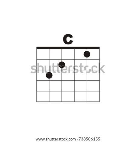 Guitar Chord C Vector Logo Stock Vector Royalty Free 738506155