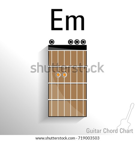 Guitar Chord Em Chart Vector Design Stock Vector Royalty Free