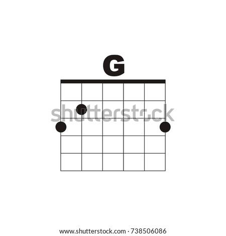 Guitar Chord G Vector Logo Stock Vector Royalty Free 738506086