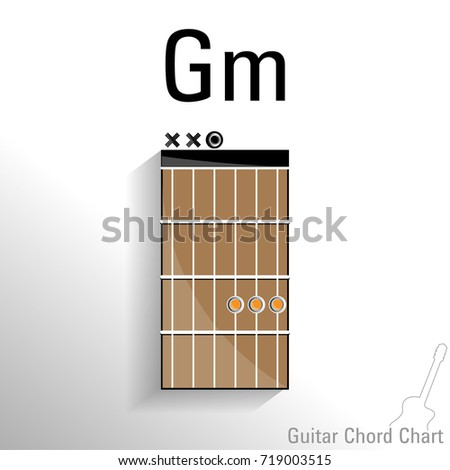 Guitar Chord Gm Chart Vector Design Stock Vector (Royalty Free ...