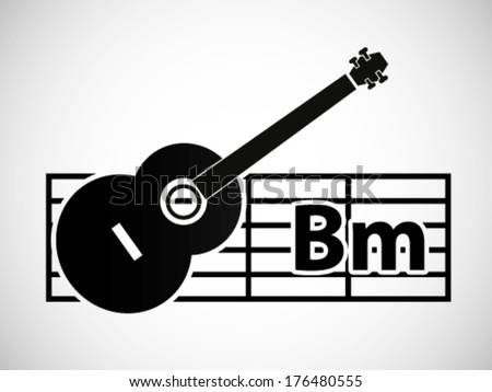 Guitar Chord Illustration B Minor Stock Vector Royalty Free