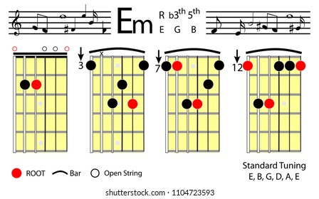 Guitar Chords E Images Stock Photos Vectors Shutterstock