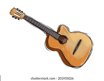 Acoustic Guitar Sketch Images Stock Photos Vectors Shutterstock