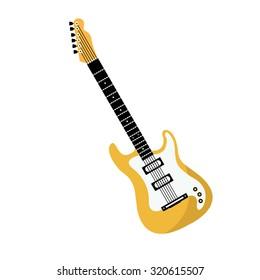 Guitar electric icon. Flat design.