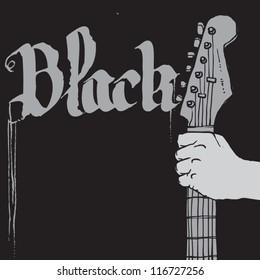 guitar in hand for rock concert