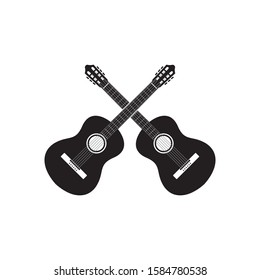 guitar icon. acoustic musical instrument design vector illustration