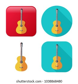guitar icon - music instrument - sound play symbol - rock musician icon
