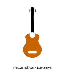 guitar icon - music instrument - sound play symbol - rock musician icon