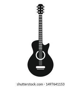 Guitar icon. Simple illustration of guitar vector icon for web design isolated on white background