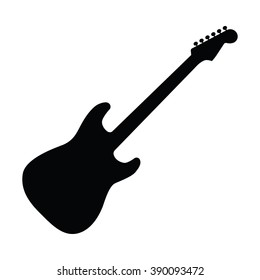 Guitar icon Vector Illustration on the white background.